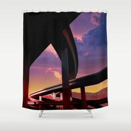 Sci-Fi Freeway Shower Curtain