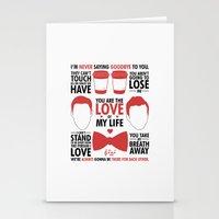 kurt rahn Stationery Cards featuring Kurt & Blaine  by Zara Yow