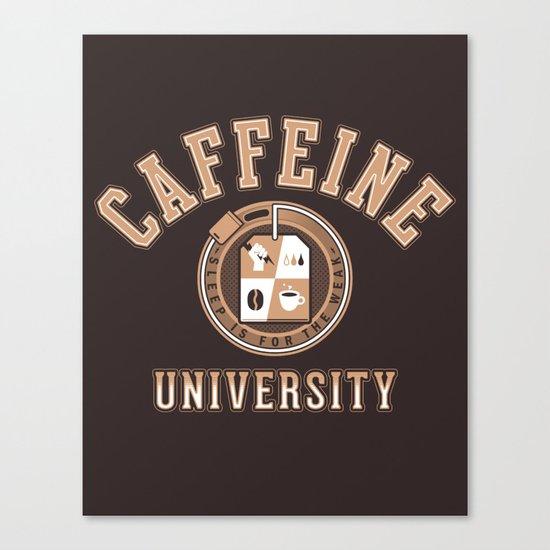 Caffeine University Canvas Print