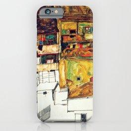 Egon Schiele - Old houses in Krumau 1914 iPhone Case