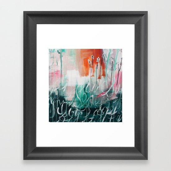 Zoe's Zen Garden Framed Art Print