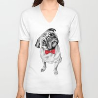 percy jackson V-neck T-shirts featuring Percy Pug by 13 Styx