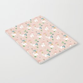 Summer Llamas on Pink Notebook