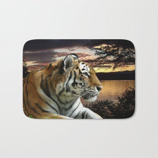 Sunset Tiger Bath Mat