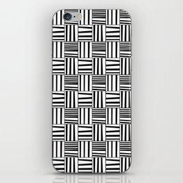 symetric tartan and gingham 4 -vichy, gingham,strip,square,geometric, sober,tartan iPhone Skin