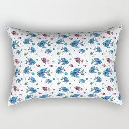 Pattern Fish Blue Rapport Rectangular Pillow