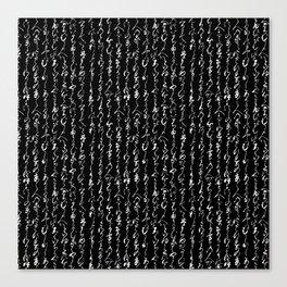 Ancient Japanese Calligraphy // Black Canvas Print