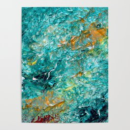 """""""Leprechaun's Koi Pond"""" Painting Poster"""