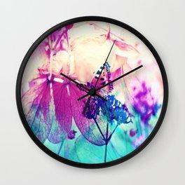 Butterfly in Wonderworld 2 Wall Clock