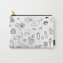 creepy cute witchy pattern Carry-All Pouch