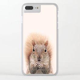 Squirrel Print, Woodlands Decor, Wall Art, Animals Print, Woodlands Nursery Art, Nursery animal Clear iPhone Case