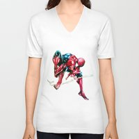 spider man V-neck T-shirts featuring Spider Man! by BunBun Supreme