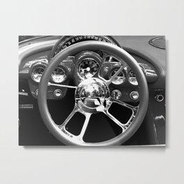 Red Wheel Metal Print