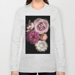 Pink, Purple, and White Roses Long Sleeve T-shirt