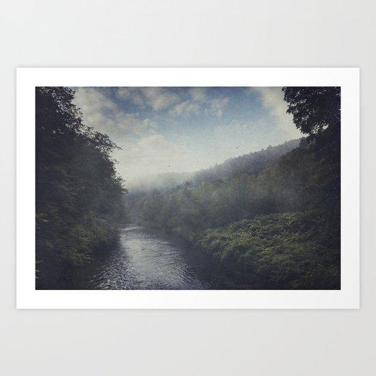 Wilderness in Mist Art Print