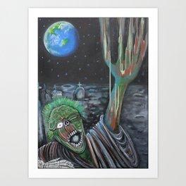 Moon Zombie Art Print