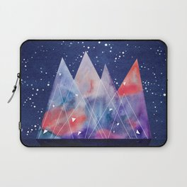 Mountains by night Laptop Sleeve