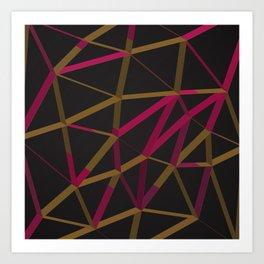 3D Futuristic GEO Lines XI Art Print