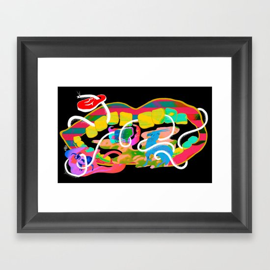 """Centipede Hz"" by Steven Fiche Framed Art Print"