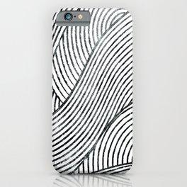zen lines minimal pattern iPhone Case