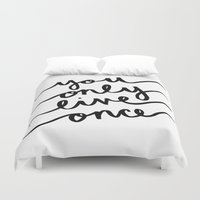 yolo Duvet Covers featuring #YOLO by Jamie Creates Happy