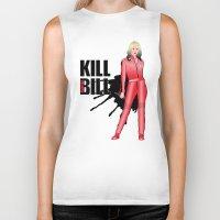 kill bill Biker Tanks featuring Kill Vampire Bill (Red Version) by AriesNamarie