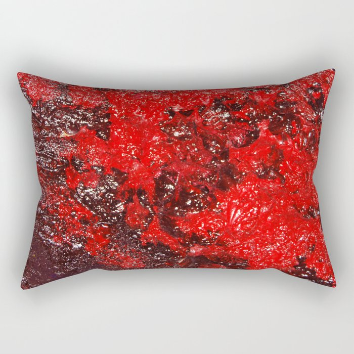 Red Cavern Rectangular Pillow
