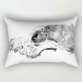Wolf Skull Rectangular Pillow
