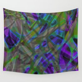 Colorful Abstract Stained Glass G301 Wall Tapestry