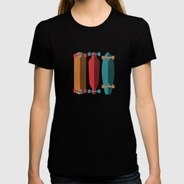Three types of skateboards T-shirt