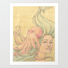 The Octopus Mermaid 7 Art Print