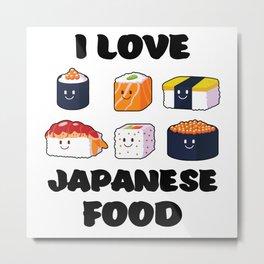 Sushi Noodles Anime Manga Funny Japan Otaku Outfit Metal Print