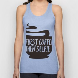 FIRST COFFEE LOVER Unisex Tank Top