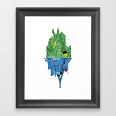 From Paris to New York and back Framed Art Print