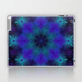 Cyan, Blue, and Purple Kaleidoscope 3 Laptop & iPad Skin
