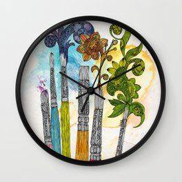 Brushtopia Wall Clock
