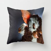 gizmo Throw Pillows featuring Gizmo  by Erika VBL