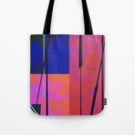 Modern Bold Pink Blue Orange Abstract Tote Bag