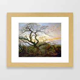 Caspar David Friedrich The Tree of Crows Framed Art Print