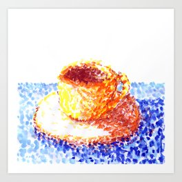Coffee Cups Collection - #9 Coffee cup - Impressionist Watercolour Art Print
