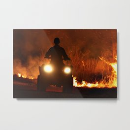 Burn It I Metal Print