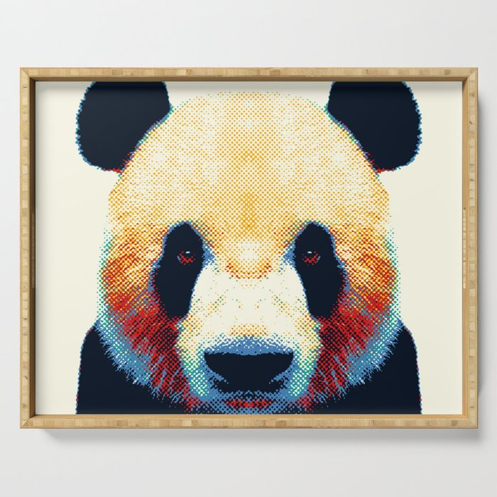 Panda - Colorful Animals Serving Tray