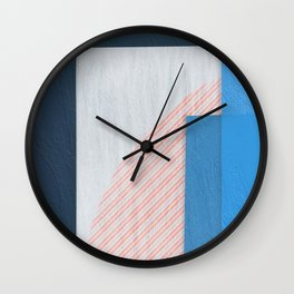 Abstract Geometric Space 2 Wall Clock