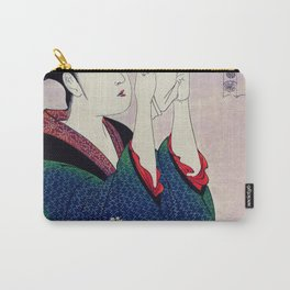 Fumiyomu Onna by Utamaro Kitagawa (1753-1806) a traditional Japanese Ukyio-e style  of a Japanese wo Carry-All Pouch
