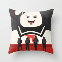 ghostbusters Throw Pillows featuring Ghostbusters by Bill Pyle
