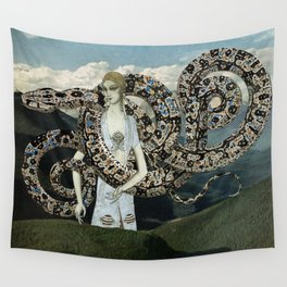 Serpents and Mountains Wall Tapestry