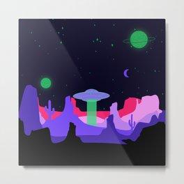 Hello ufo Metal Print
