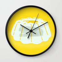 dwight schrute Wall Clocks featuring Jim Vs. Dwight by Roland Lefox