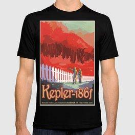 Kepler-186 : NASA Retro Solar System Travel Posters T-shirt