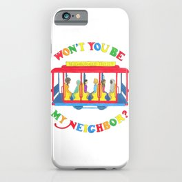 Mister Rogers Neighborhood Trolley iPhone Case